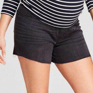 Size 2 Maternity Shorts Denim Jeans Isabel Black